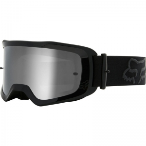 FOX Main MX-Brille Stray  black / Mirror Lens Chrome