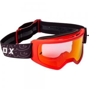FOX Main Peril MX-Brille Flo Red mit rotverpeigelter Lexan™-Sichtscheibe