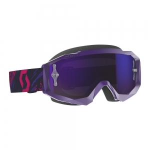 SCOTT Hustle X MX Brille Purple/Pink / Lens Purple Chrome Works