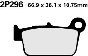 Nissin Sinter-Bremsbeläge hinten KXF250/450