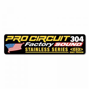 Pro Circuit Sticker für den 304-Schalldämpfer
