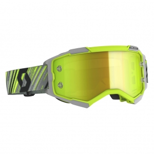 SCOTT Fury MX-Brille  Yellow/Grey / Yellow Chrome Works