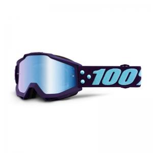 100% MX-Brille Accuri Extra Maneuver Mirror Blue