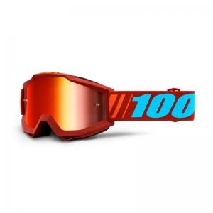 100% MX-Brille Accuri Extra Dauphine Mirror Red