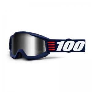 100% MX-Brille Accuri Extra Art Deco Mirror Silver