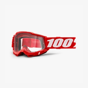 100% Accuri 2 Goggle Fluo Red - Clear Lens