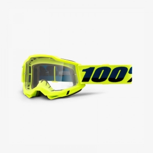 100% Accuri 2 Goggle Fluo Yellow - Clear Lens