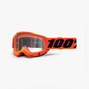 100% Accuri 2 Goggle Fluo Orange - Clear Lens