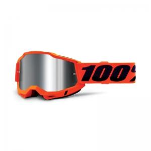100% Accuri 2 Goggle Orange - Mirror Silver