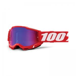 100% Accuri 2 Goggle Red - Mirror Red/Blue