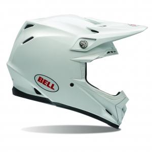 Bell MOTO-9 Flex Helm Solid Weiß Größe: L