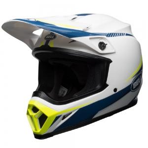 Bell MX-9 MIPS Helm Torch 18 Weiß/Blau/Gelb Gr: S