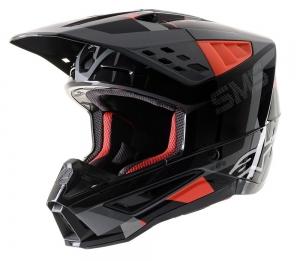 Alpinestars SM5  MX-Helm Rover Anthrazit-Rot-Camo  Gr: L