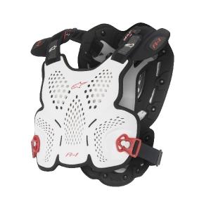 Alpinestars A-1 Brustschutz weiß/schwarz/rot