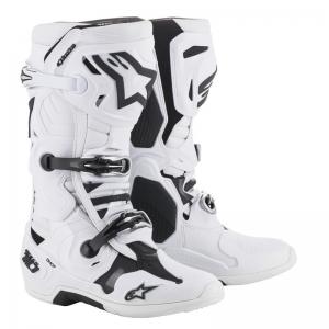A-Stars Motocross-Stiefel Tech 10  Weiß Größe 12