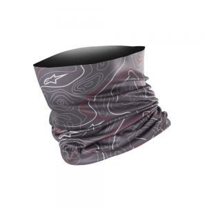 Alpinestars Contours Neck Tube Anthracite/Gray/Red