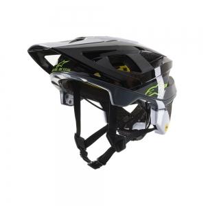 Alpinestars  Vector Tech Pilot Helmet  Größe: M Black/white/cool gray glossy