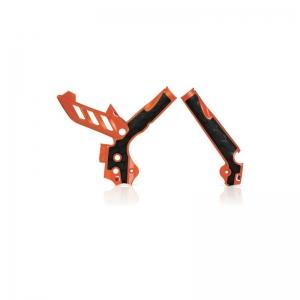 Acerbis Rahmenschützer X-Grip KTM all 11-16 Orange/Schwarz