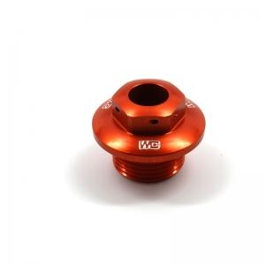 Works Connection Steuerkopfmutter KTM 125-500 03- Husqvarna 14- Orange