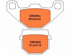 DELTA Bremsbelag DB2060MX-D RM80/85 vorn/hinten