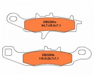 Delta Braking Bremsbeläge Vorn    KX80/85ccm