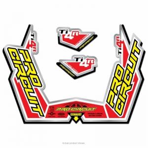 Aufkleberkit für Pro Circuit Titan Schalldämpfer Ti4R