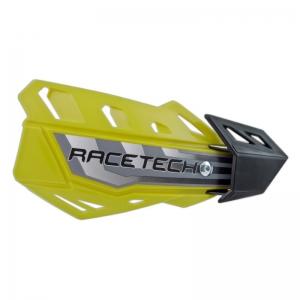 Race Tech FLX Handschalen universal gelb mit Anbaukit