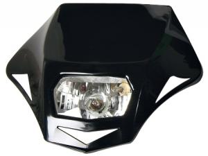 Race Tech Lampenmaske Genesis  schwarz
