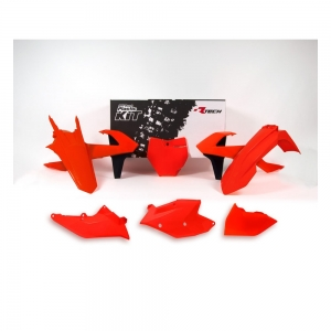 Race Tech Plastikkit KTM SX/SXF 16-18 Neon Orange 6-teilig