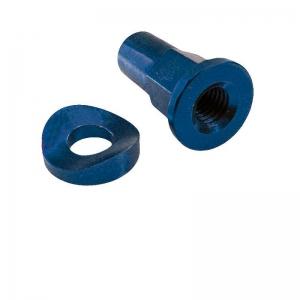 ZAP-Mutter & Scheibe Alu für Reifenhalter blau