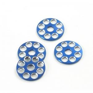 ZAP Works U-Scheibenset Blau-Silber 4 Stück