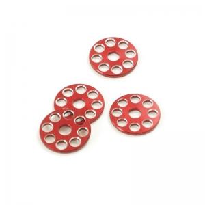 ZAP Works U-Scheibenset Rot-Silber 4 Stück