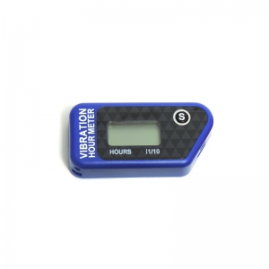 Offroad Vibrations- Servicestundenzähler kabellos, resetbar  Blau