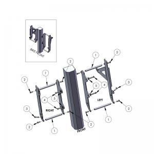 ZAP Kühlerschützer aus Aluminium für RMZ450 10->