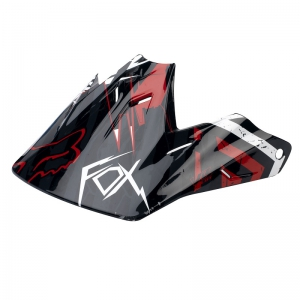 FOX V3 Prints Helmet Visor 08 black/red(01102)