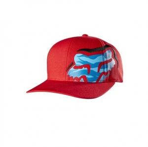 FOX Boys Glitched Flexfit Hat Red