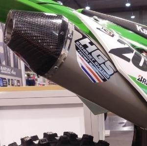 HGS 4T T2 Dri-Oval Auspuffanlage KXF450 16-> mit Carbon-Endkappe