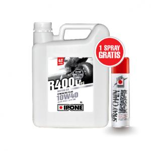 IPONE R4000 RS (10W40) 4-Takt 4Liter+250ml Kettenspray