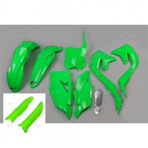 Plastikkit Kawasaki KXF450  19->  Neon Grün  6tlg