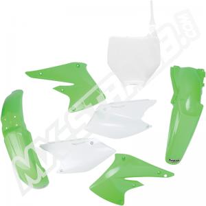 UFO Plastik-Kit Kawasaki KXF250 04-05 original Farbe