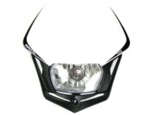 RACE TECH Lampenmaske V-Face  schwarz/weiß (E)geprüft