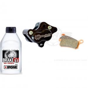 Moto Master Bremssattel hinten KTM SX65  04-08 incl. Beläge und 500ml Bremsflüssigkeit DOT5