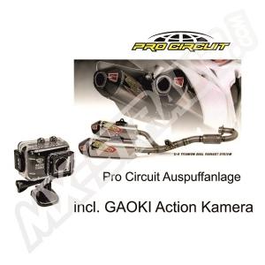 Pro Circuit T-6 GP Dual System Honda CRF 250 14- 15 SS/Ti/CR  incl. GAOKI Action Kamera