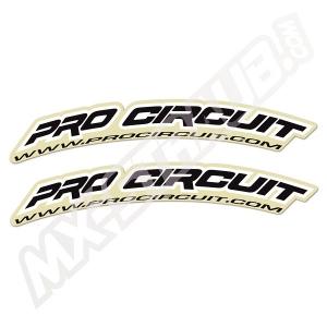 Pro Circuit Kotflügelaufkleber Schwarz 2Stück ca.30x4cm