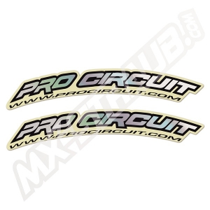 Pro Circuit Kotflügelaufkleber Hologram 2Stück ca.17x2cm