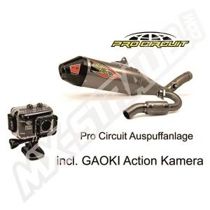 Pro Circuit T-6 GP System Yamaha YZF 450 14- 16 SS/Ti/CR incl. Gaoki Action Kamera