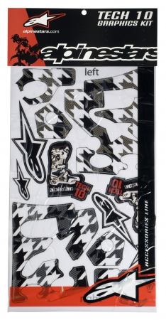 Alpinestars Sticker-Kit T10 Stiefel 7-10 weiß