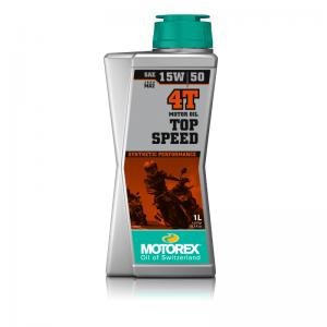 Motorex Motoröl 4-Takt, SAE 15W/50, Top Speed Synthetic Performance, teilsynthetisch, 1L
