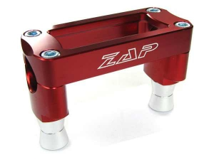 ZAP T-Bone Anbaukit für Kawasaki KXF250 09-12 / 450 06-11 für Original Gabelbrücke rot eloxiert 35mm hoch