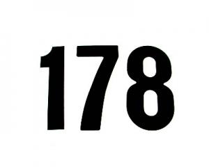 Startnummern Standard 15cm schwarz